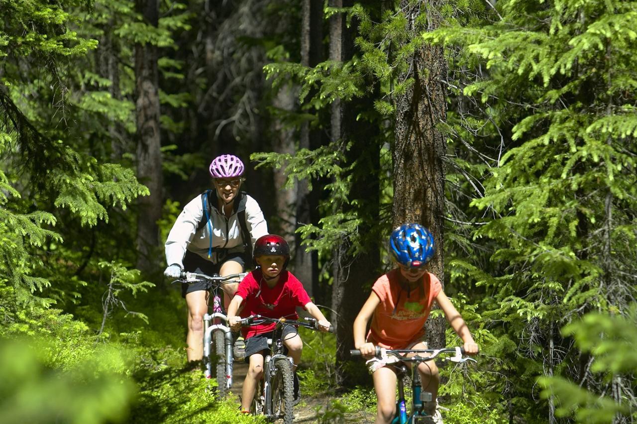 Family Bike Ride in Winter Park, Colorado
