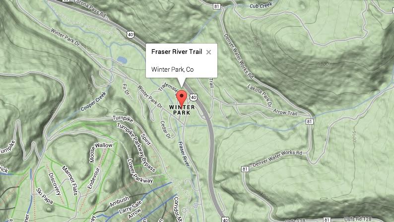 Fraser River Trail near Winter Park, Colorado