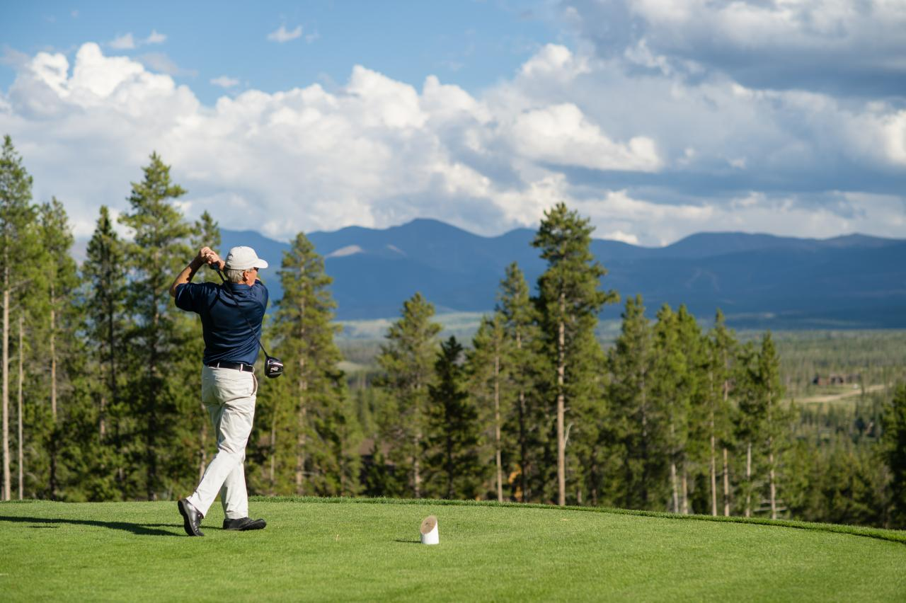 Golf at Pole Creek Golf Course near Winter Park, Colorado