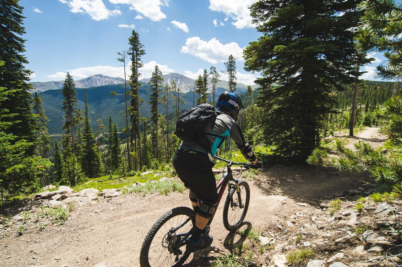 Mountain Biking on trails above Winter Park