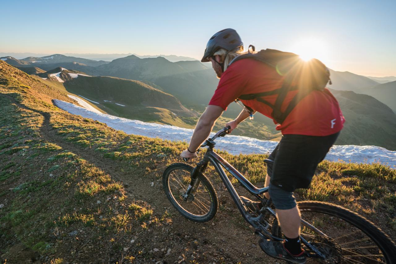 Bike Rider on Mountaintop