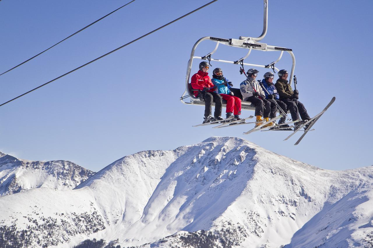 Scenic Chair lift ride at Winter Park Resort in Colorado