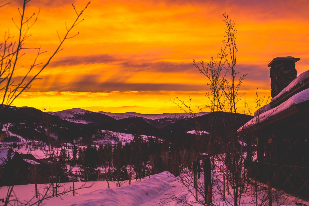 Winter Sunset at Devil's Thumb Ranch