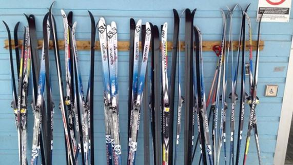 Skis ready for the Swap