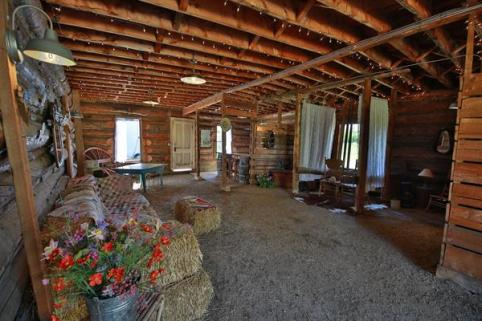 Come relax in our historic barn on the straw bale couch