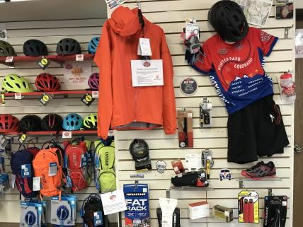 Clothing, bike helmets, bike shoes and acessories