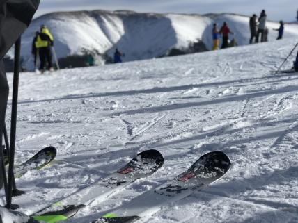 Skiing on top of Parsenn Bowl at the Jane - Winter Park Resort