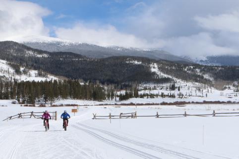 Winter Fat Tire Mountain Biking