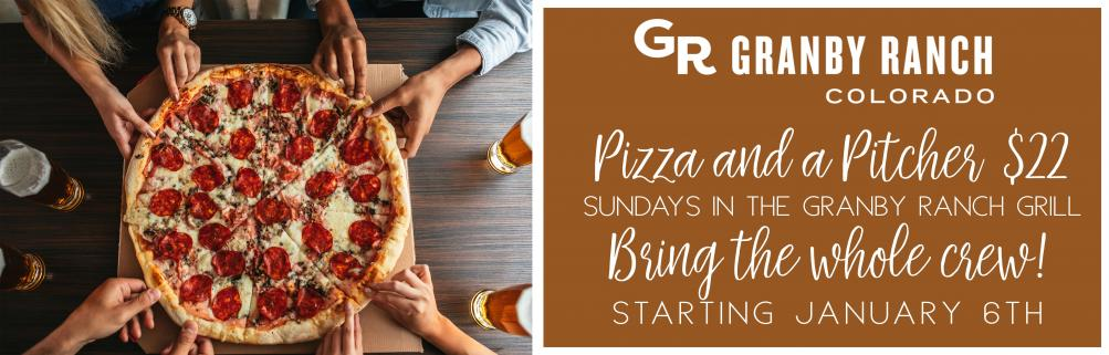 Pizza and a Pitcher $22