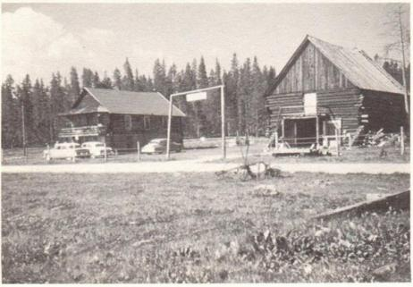 Stagecoach Hotel and Barn circa 1950