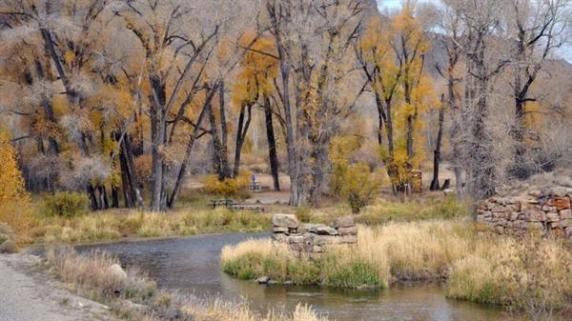 Camp along the Colorado River at Pioneer Park