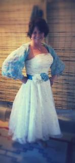 Freelance designed Shawl & Belt for the perfect look