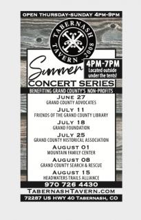Tabernash Tavern Summer Concert Series 2021