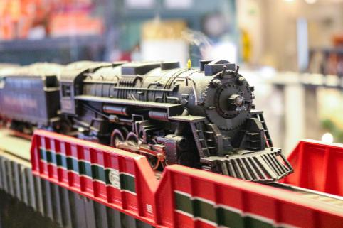 Model train complete with steam