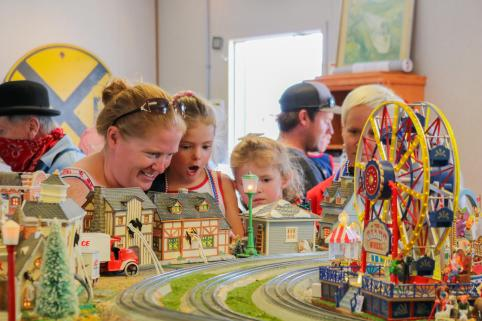 Amazement of the model train display
