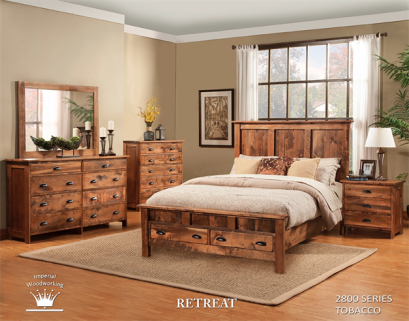 We Carry several styles of Bedroom Furniture.