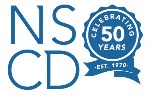 National Sports Center for the Disabled 50 years logo