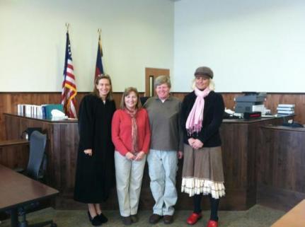 New CASA volunteers sworn in by the Honorable Judge Hoak, Fall 2012
