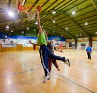 Basketball, volleyball and rec games available in our indoor gym