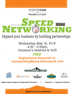 Speed Networking Chamber  Business Function