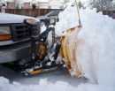 Golden Eagle Snow Removal stock photo