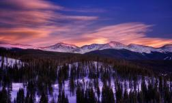 Continental Divide Alpenglow in Winter Park, Colorado