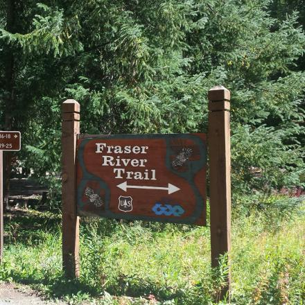Fraser River Bike Trail at Idelwild Campground in Winter Park