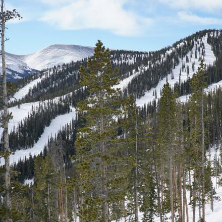 Winter Scene at Winter Park Ski Resort