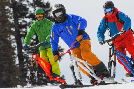 Ski Biking in Winter Park, Colorado