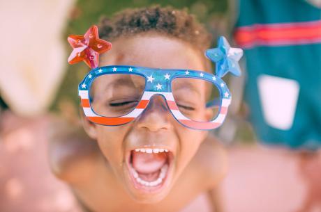 Patriotic Child