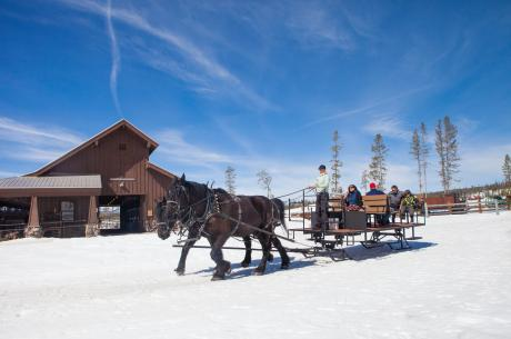 Sleigh Rides in Winter Park, Colordao