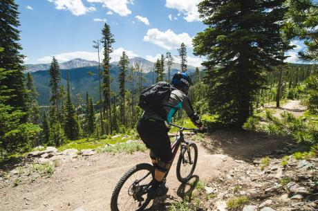 Mountain Biking on trails above Winter Park