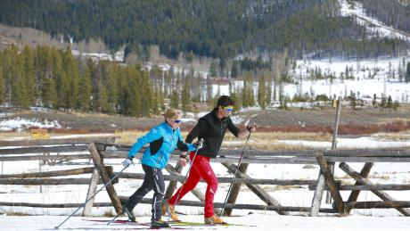 XC-Skiing at Devil's Thumb Ranch near Winter Park, Colorado