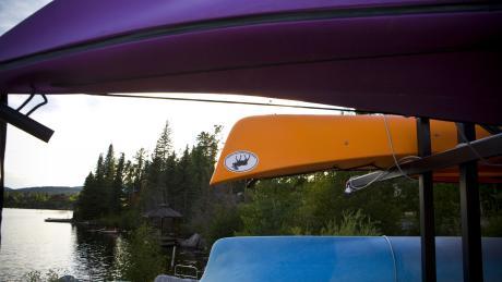 Caneoing on Grand Lake near Winter Park, Colorado