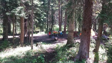 Family Campsite at Idelwild Campground in Winter Park, Colorado
