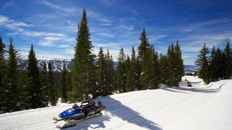 Snowmobile on the Continental Divide near Winter Park, Colorado