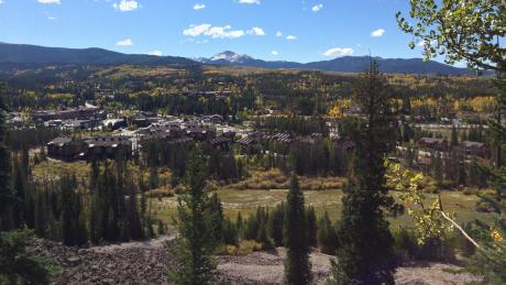View from Yankee Doodle Trail in Idlewild Trail System in Winter Park, Colorado