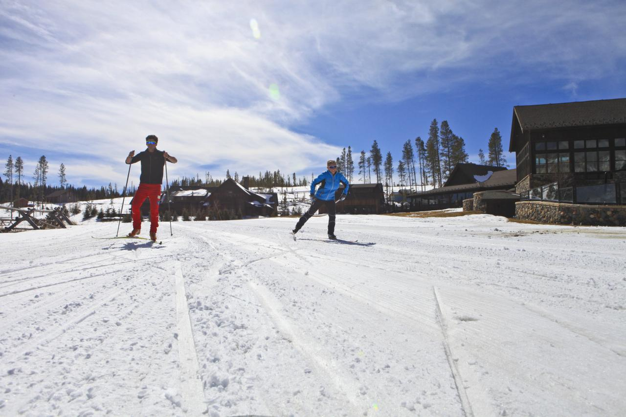 Cross-Country Skiing at Devil's Thumb Ranch near Winter Park, Colorado