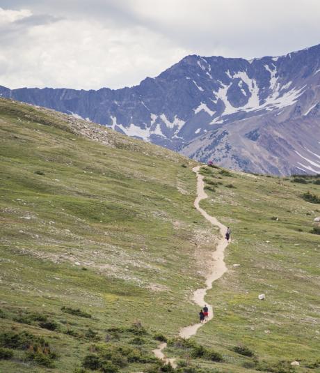 Hiking in Rocky Mountain National Park near Winter Park, Colorado