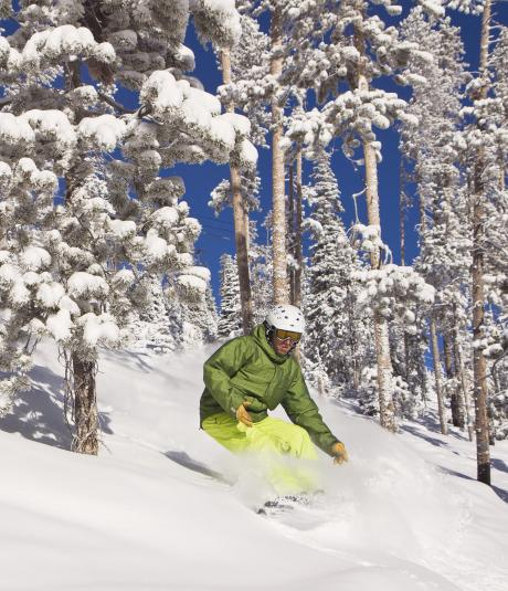 Snowboarding at Winter Park Resort in Colorado