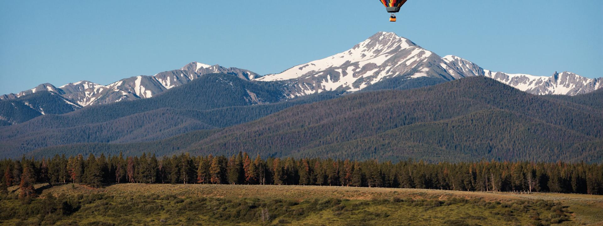 Hot Air Balloons rides in Winter Park, Colorado