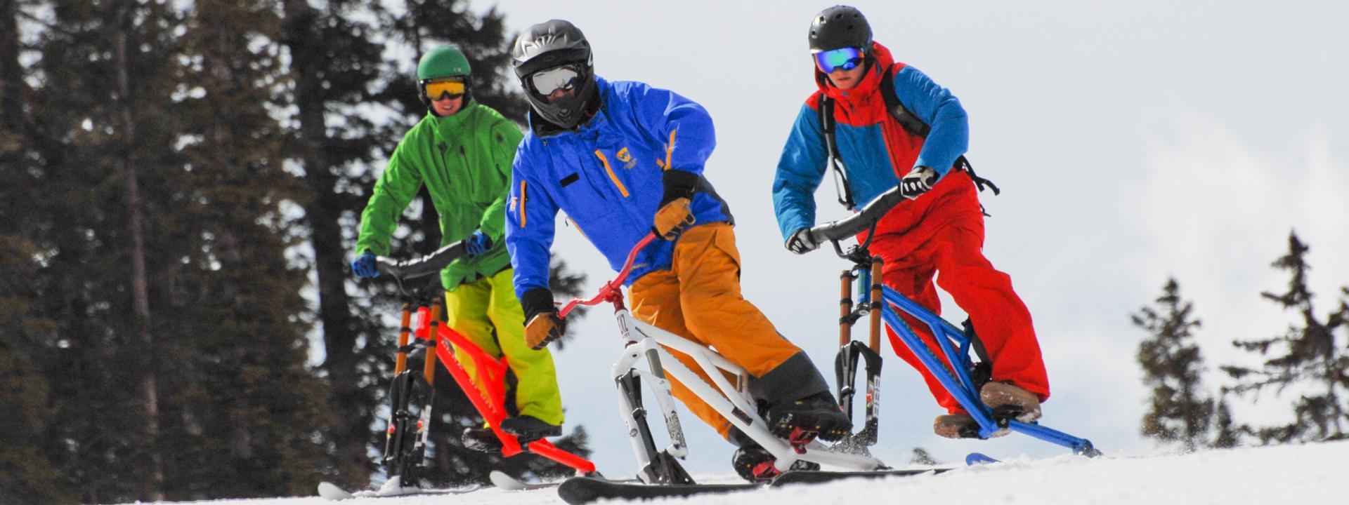 Ski Biking in Winter Park, Colorado