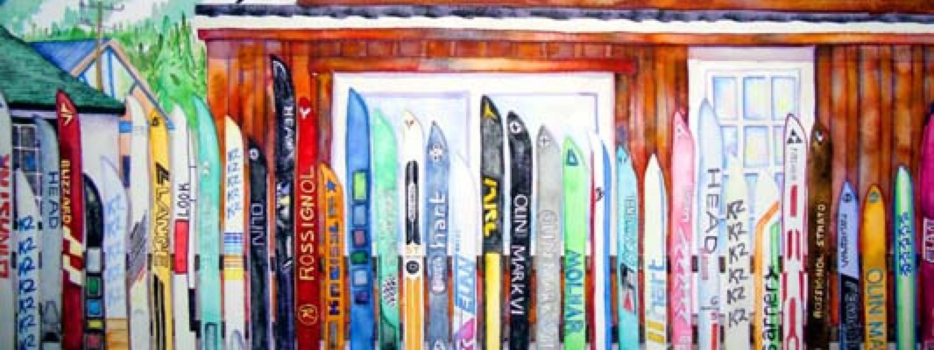 Positively Fraser painting from Elizabeth Kurtak Art Gallery