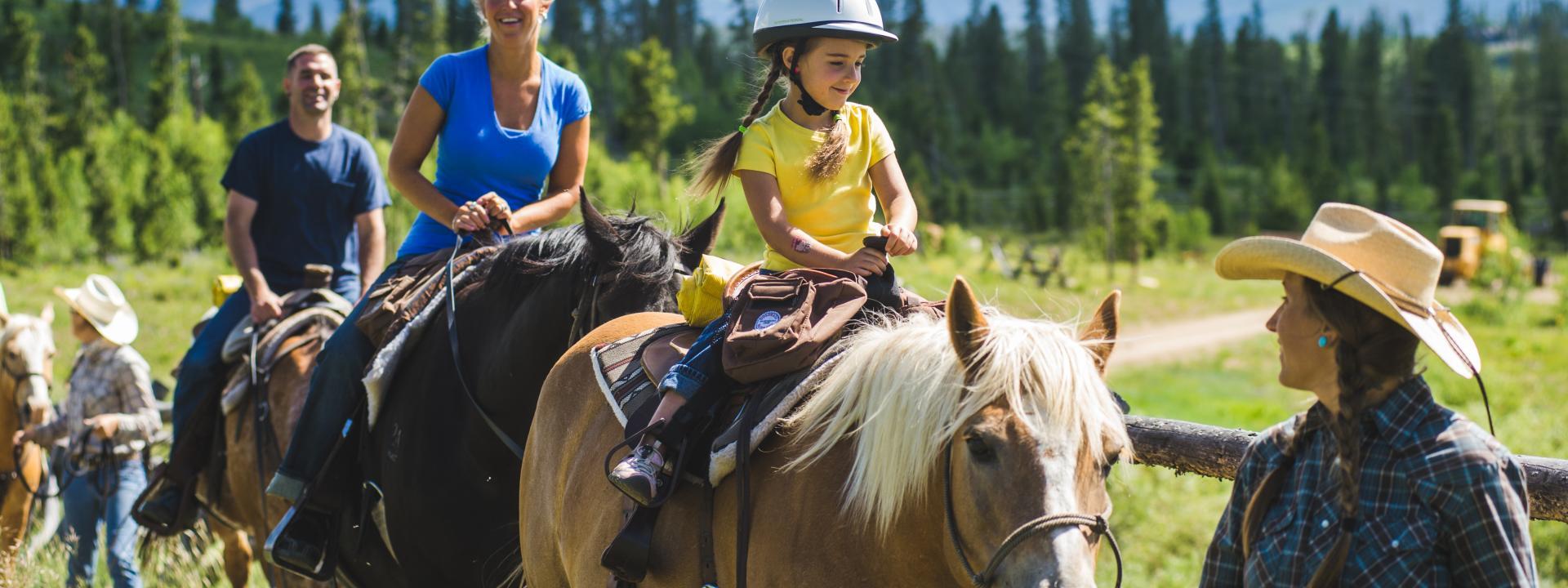 Horseback riding in Winter Park, Colorado