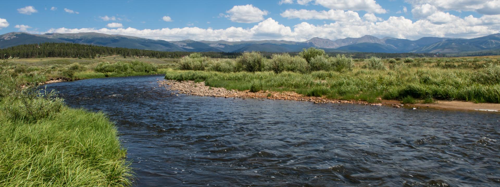 Fraser River in Winter Park, Colorado