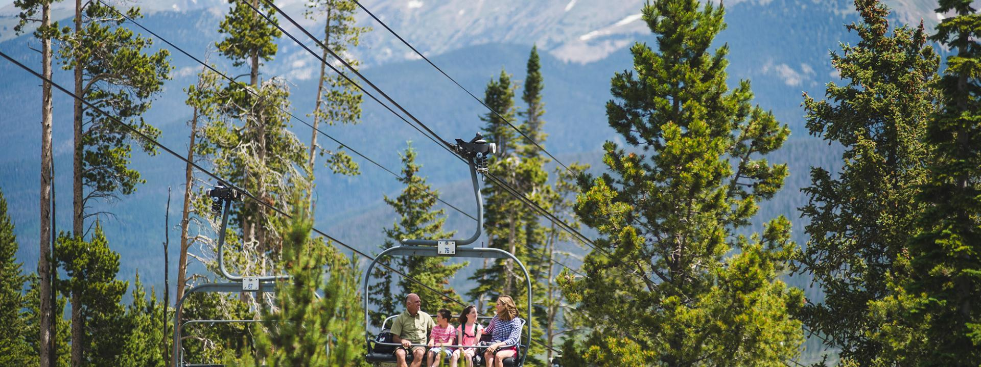 Scenic Chair Lift at Winter Park Resort