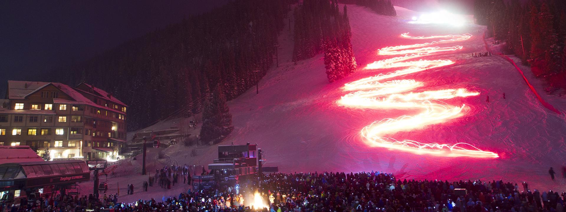 Torchlight Parade at Winter Park Resort in Colorado