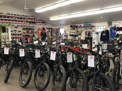 Retail bikes from Trek, Scott and Cannondale