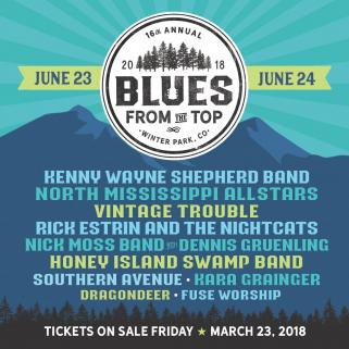 blue from the top line up 2018 line up. Tickets available at https://grandblues.org/bluesfromthetop/2018-festival/#lineup