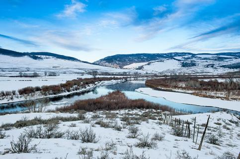 Confluence of Blue River, Colorado River and Muddy Creek. As seen from the McElroy Ranch Conservation Easement. Photo by Susan Herpel.